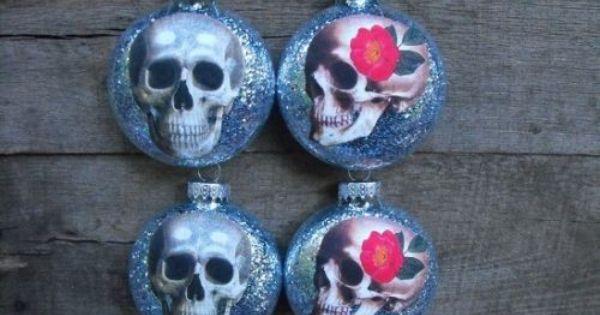 Roman Set of 4 Iridescent Rosebud Clip On Glass Christmas Ornaments #27679