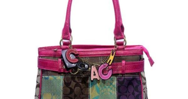 Cheap And Fashion Coach Holiday In Monogram Large Fuchsia Satchels DJW Are