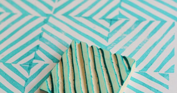DIY: custom rubber stamp. Stripes! stamp diy craft