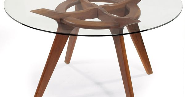 Andrew Pearsall Walnut And Glass Dining Table For Craft