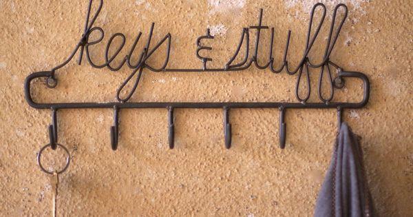 Keys and stuff wall hook