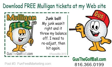 Download Free Funny Mulligan Ticket Templates For Your Next Golf Tournament At Gusthegolfball Com Customize These P Golf Tournament Golf Fundraiser Golf Humor