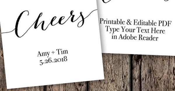 cheers tags printable editable favor tag template wedding tags wine bottle tags diy. Black Bedroom Furniture Sets. Home Design Ideas