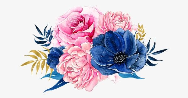 Flowers Pink Blue Png Transparent Clipart Image And Psd File For Free Download Watercolor Illustration Flower Art Flower Phone Wallpaper