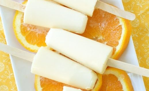 homemade creamsicles: 1 cup orange juice 1 cup coconut milk 3 tsp