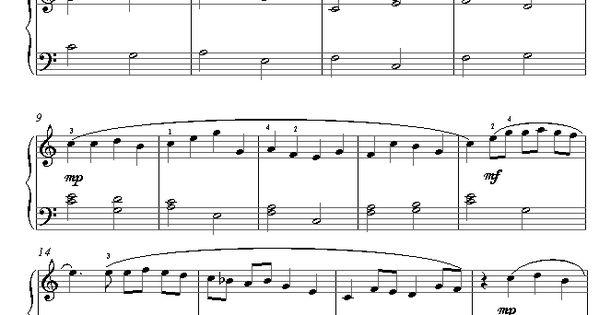 pachelbel canon in d easy piano pdf