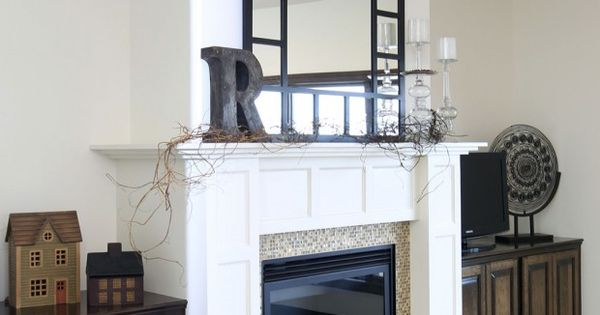 antique white fireplace with raised hearth | DIY creativity ...