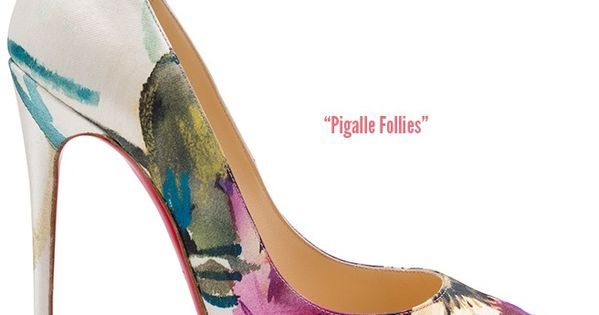 Christian Louboutin floral Pigalle Follies Fall 2014 collection http://thebrookeus.tumblr.com/niceheels boots wedding shoes