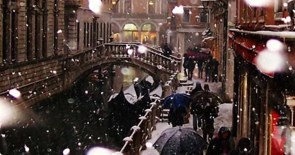Venice, Italy beautiful in the snow....