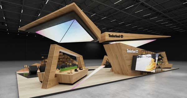 Exhibition Stand Types : Timberland exhibition stand on behance kioskkk