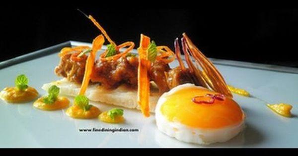 Kerala Lamb Curry Appam Modern Indian Fine Dining Food Plating Food Presentation Plating