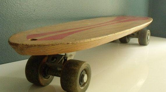 Skateboard Nash Goofy Foot Wooden Urethane Wheels Old