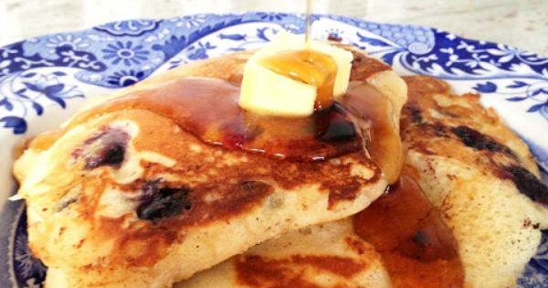 Lemon blueberry pancakes, Blueberry pancakes and Pancakes on Pinterest