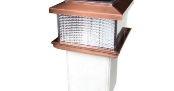 4 In X 4 In Plastic Square Copper Plating Solar Powered Adaptable Post Cap 2211 F Copper The Home Depot Post Cap Square Plates Solar Power