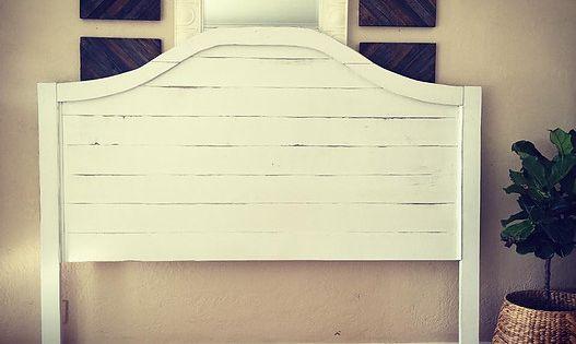 White Shiplap Headboard House Goodies Pinterest