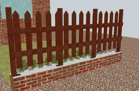 Como hacer un cerco valla verja de madera ideas para el jardin pinterest verjas valla y - Verjas de madera para jardin ...