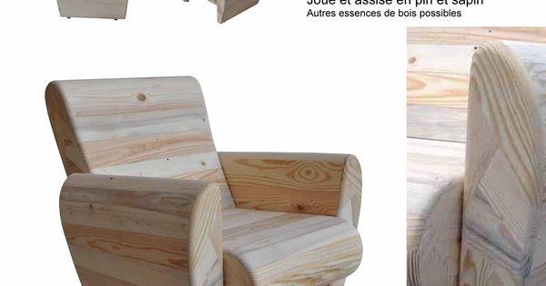 fauteuil club design vintage thierry marc bois recycl. Black Bedroom Furniture Sets. Home Design Ideas
