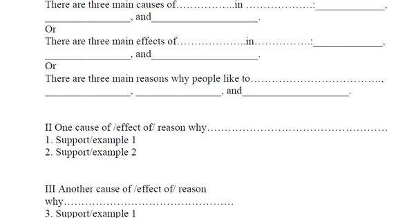 Cause Effect Outline Sample | Homeschooling | Pinterest | Essay ...
