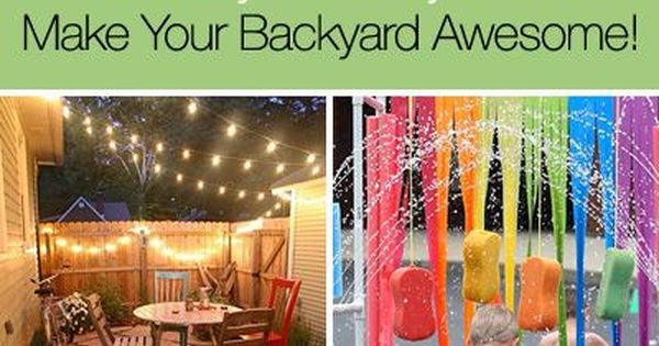 15 Easy DIY Projects to Make Your Backyard Awesome This Coming Year!