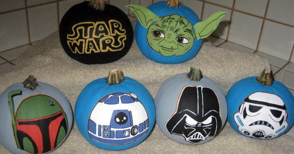 mini star wars pumpkins i hand painted for my son halloween pinterest sons minis and star. Black Bedroom Furniture Sets. Home Design Ideas
