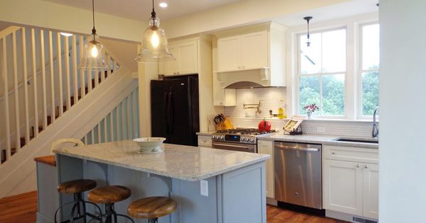 Dayton Painted Linen And Painted Harbor Mission Kitchen Cabinets From