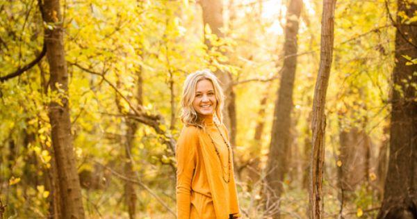 Senior photo - female - girl - gold sweater - sunset -