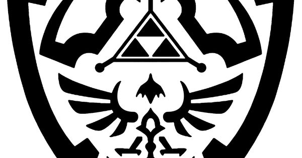 Hylian Shield Outline Tattoo Ideas Pinterest