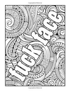Amazon Com Swear Word Stress Relieving Coloring Book 37 Funny