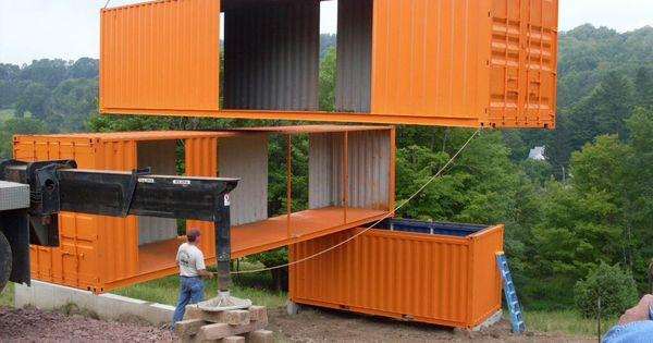Containerwoning ergonomic pinterest shipping - Contenedor maritimo casa ...