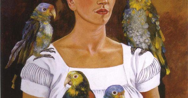 Frida Kahlo: Yo y mis pericos, 1941. love Frida.. her artwork is
