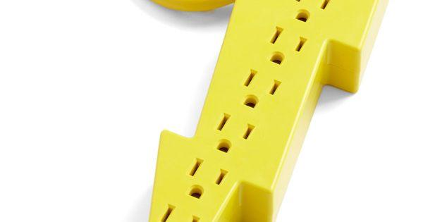 Jason's Super Power strip Lightning Bolt power adapter yellow