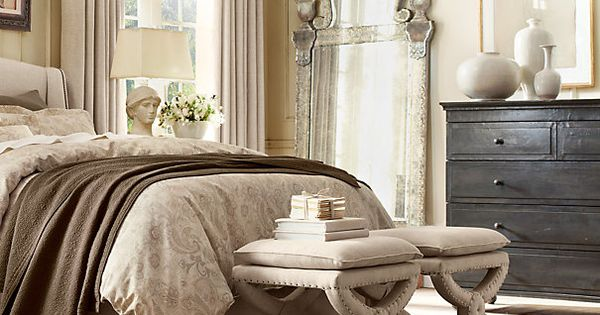 Restoration Hardware Bedroom Black Furniture With Neutral Decor Home Sweet Home Pinterest