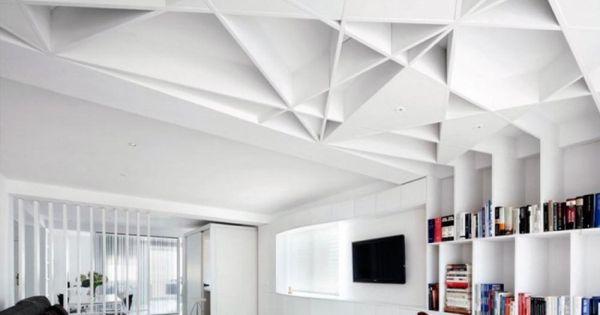 minimalistische und außergewöhnliche deckengestaltung in weiß mit, Deko ideen