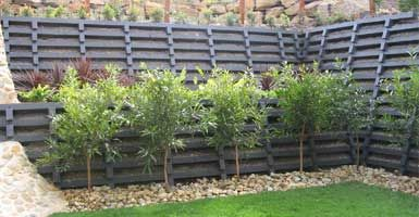 Concrete Crib Walls Gravity Retaining Walls Concrib Brisbane Landscaping On A Hill Crib Wall Gravity Retaining Wall