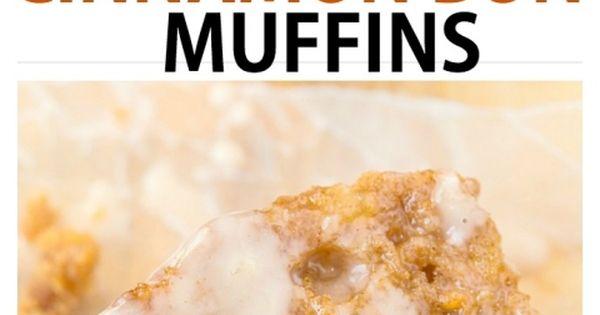 Healthy Flourless Sticky Cinnamon Bun Muffin recipe ...