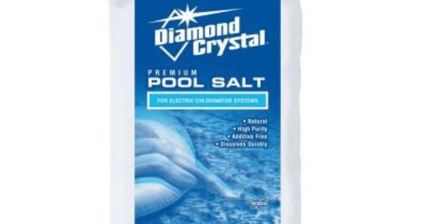 Diamond Crystal 40 Lb Pool Salt 100011437 At The Home Depot Diamond Crystal Crystals Saltwater Pool