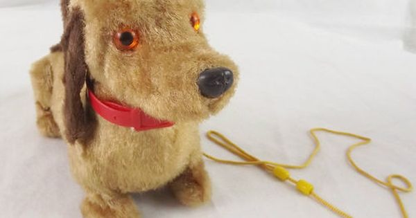 Vintage Battery Operated Toy Dog Dachshund Doxie 1970 S Brown