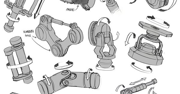 infinitedoodles  mech joints study this is a great example