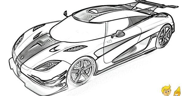 full force race car coloring  koenigsegg one 1