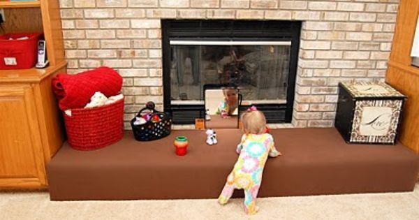 Great Way To Baby Proof A Brick Fireplace Now On My To Do List Mama Bear Pinterest