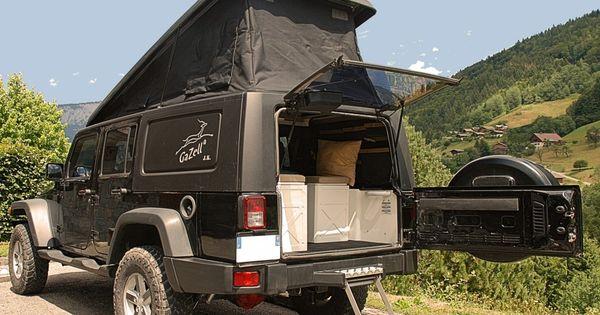 GaZell camper conversion for Jeep JK.  Off-Road RVs (4WD)  Pinterest  Camper conversion, Jeep ...