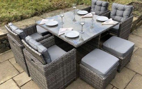 40+ Rattan garden furniture cube dining set Best Choice