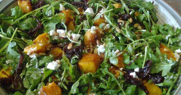 Pumpkin, Fetta and Caramelised Onion Salad | Recipe | Onion Salad ...