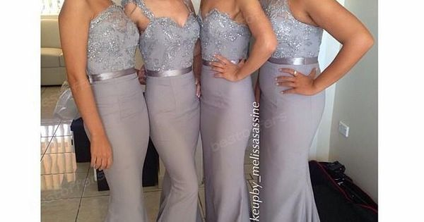 Cheap Bridesmaid Dresses - Discount Mermaid Long Bridesmaid Dress with One Shoulder