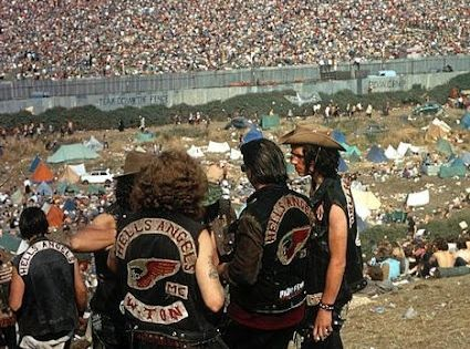 The Hell's Angels at Woodstock. Bethel, New York 1969. The Hells Angels