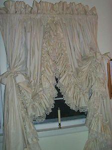 Dorothy S Original Ruffled Curtains Pr Country Style Lt Biege Ruffle Curtains Biege Curtains Curtains
