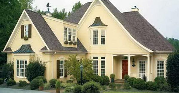 Best Colors Yellow House White Trim Charcoal Roof Add Black Door Yellow House Pinterest 640 x 480