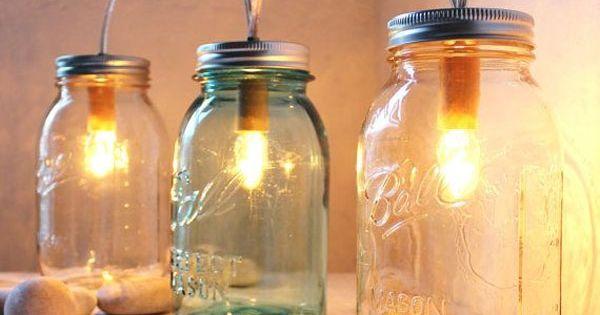 que faire avec des bouteilles et des bocaux bocaux en verre bocal et lampes. Black Bedroom Furniture Sets. Home Design Ideas