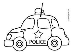 Police Car Transportation Coloring Pages For Kids Printable Free Kleurplaten Voor Kinderen Vervoer Knutselen Kleurplaten