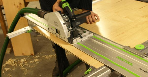 Festool Plunge Saw With Guide Rails Festool Plunge Saw Woodworking Wood